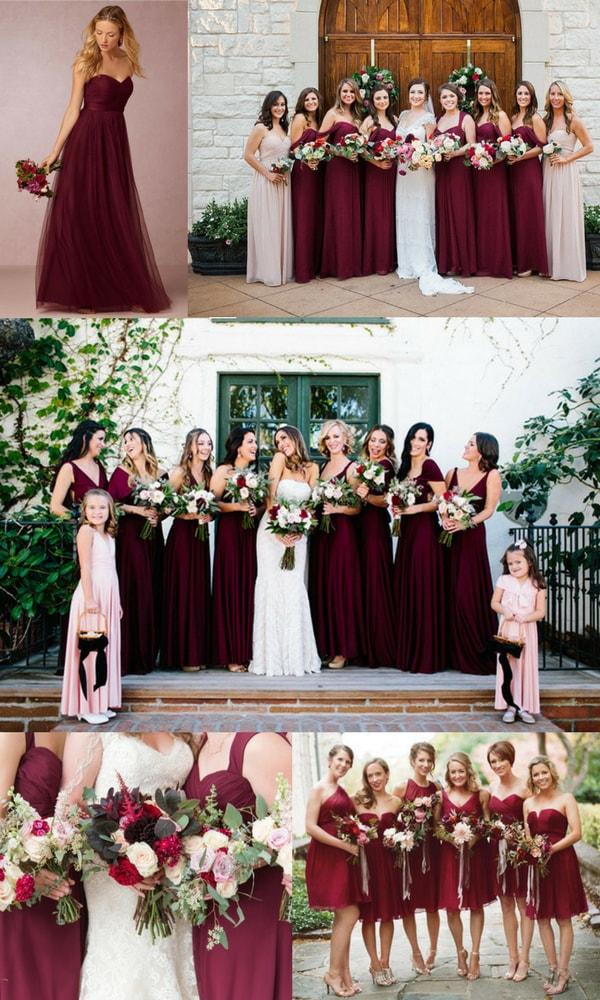 Buy Burgundy Red Bridesmaid Dresses Online Eleventh Gown Studio