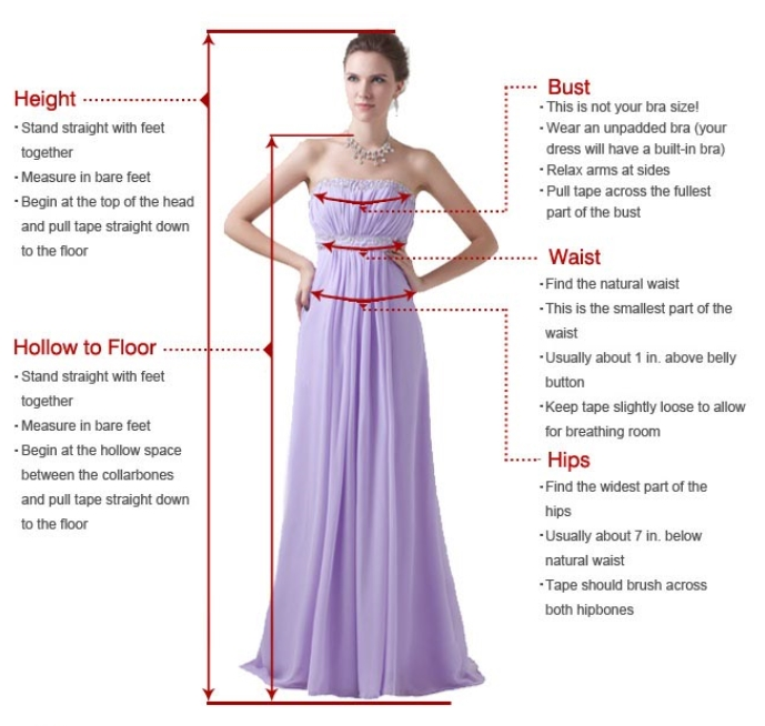 What is the hollow to floor dress measurement?